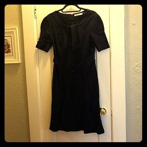 Dark blue retro style dress